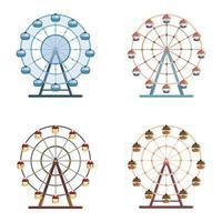 uppsättning pariserhjul. vektor