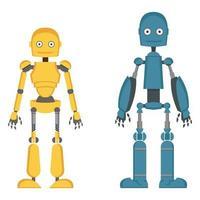 uppsättning olika robotar. vektor