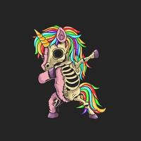 unicorn zombie dabbing vektor