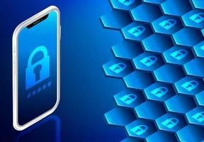 Smartphone- und Vorhängeschloss-Display