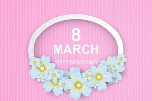 glad kvinnors dag vektor