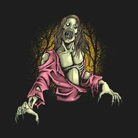 Zombie hungrige Illustration