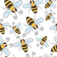 Biene nahtloses Muster vektor