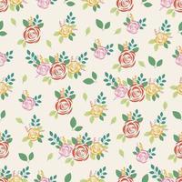 nahtloses Muster mit Rose auf Pastellhintergrund