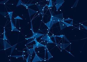 Hintergrund für Low-Poly-Netzwerkkommunikation