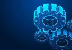 Zahnrad digitales Technologiekonzept vektor
