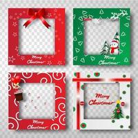 Frohe Weihnachten und ein frohes neues Jahr Grenze Rahmen Foto vektor