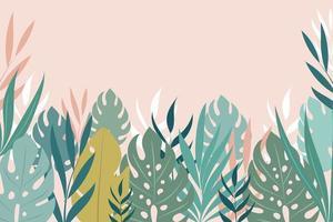 Hintergrund mit tropischen Blättern vektor