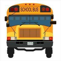 gul skolbuss vektor