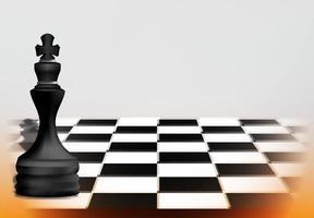 Schachspielkonzept mit schwarzer Königsfigur vektor