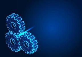 Getriebemaschinen auf blauem Hintergrund vektor