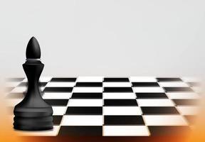 Schachspielkonzept mit schwarzer Läuferfigur vektor