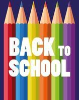 tillbaka till skolan uppsättning pennor färger