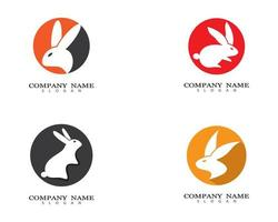 Kaninchen-Logo-Design-Set vektor