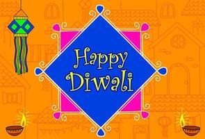 indisk diwali festival tapet vektor