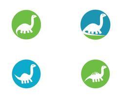 Satz von Brontosaurus-Logo-Bildern vektor