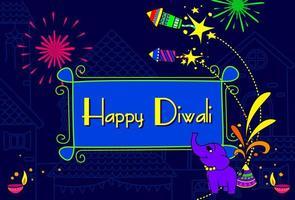 indische Diwali Festival Tapete