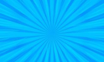 Radialstreifen der Comic-Pop-Art auf Blau