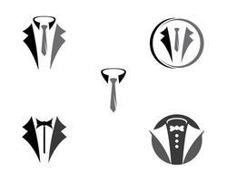 uppsättning av smoking logotyp design
