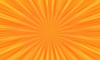 Radialstreifen der Comic-Pop-Art auf Orange