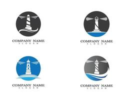Leuchtturm Bilder Logo Set vektor