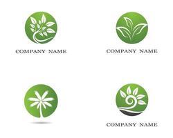 Ökologie-Logo-Design vektor