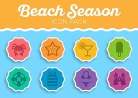 Sommar strand vektor ikonuppsättning