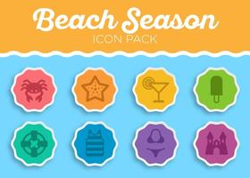 Sommer Strand Vektor Icon Set