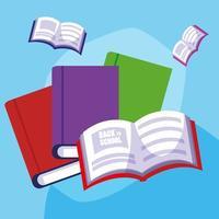 tillbaka till skolan uppsatta böcker