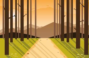 skog landskap scen vektor