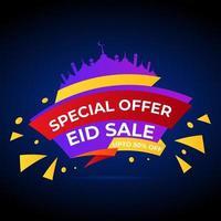 specialerbjudande eid försäljning banner vektor