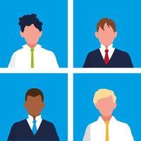 uppsättning affärsmän elegant avatar karaktär