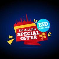 kreativ moské eid försäljning design vektor