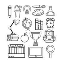 Icon-Set für den Schulanfang