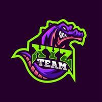 Drachen Maskottchen Logo Sportstil
