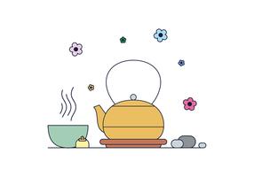 Kostenlose Matcha Tee Vektor