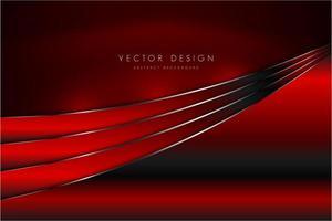 roter und silberner metallischer Hintergrund mit Seidenstruktur. vektor