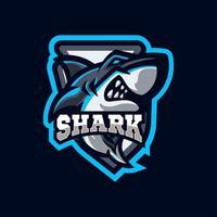 Hai Maskottchen Logo Sportstil vektor