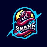 Schlangenmaskottchen-Logo-Sportstil