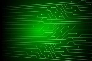 enkel grön cyberkrets framtida teknik vektor