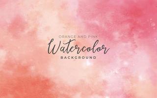 Aquarellhintergrund orange, rosa