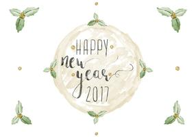 Free Happy New Year Aquarell Vektor