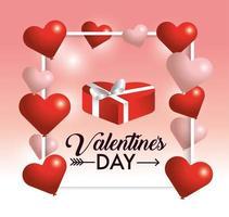 Alla hjärtans dag hjärta design vektor