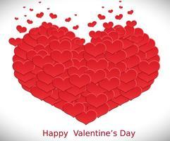 Vektor Hjärta Made Of Hearts