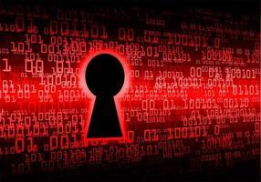 stängt hänglås på digital bakgrund. Cybersäkerhet vektor