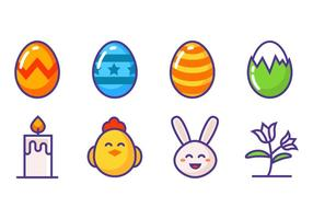 Kostenlose Ostern Icons Vektor