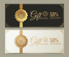 Geschenkgutscheinvorlage mit Ornamentstil vektor