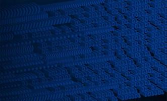 blauer 3d binärer Cyber-Schaltungshintergrund vektor