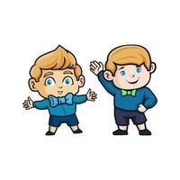 Satz von zwei Babyfiguren vektor