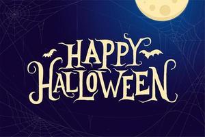 Happy Halloween Hintergrund vektor